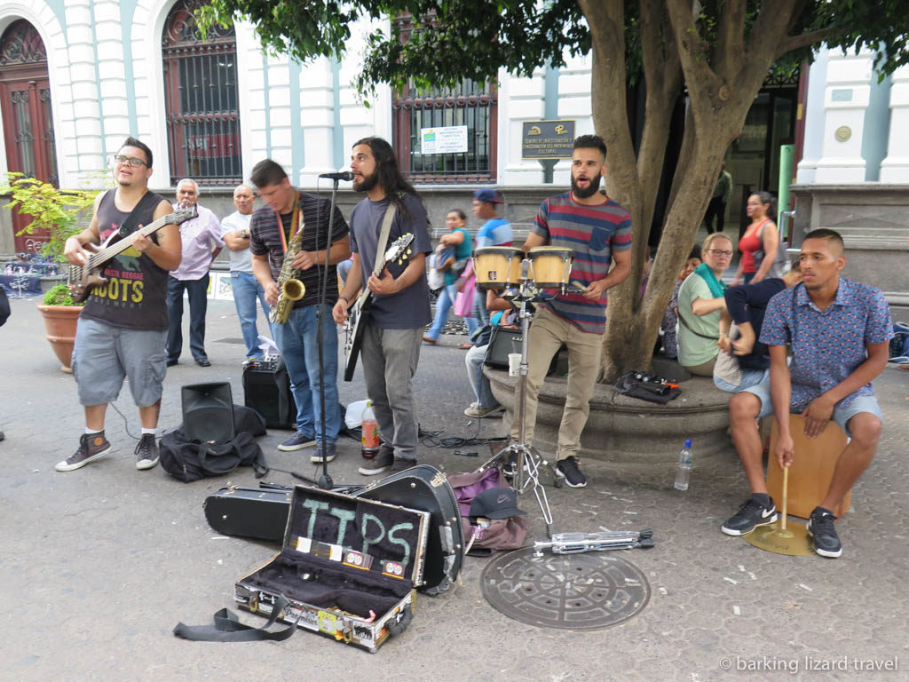 Buskers entertaining the locals on the streets of San Jose