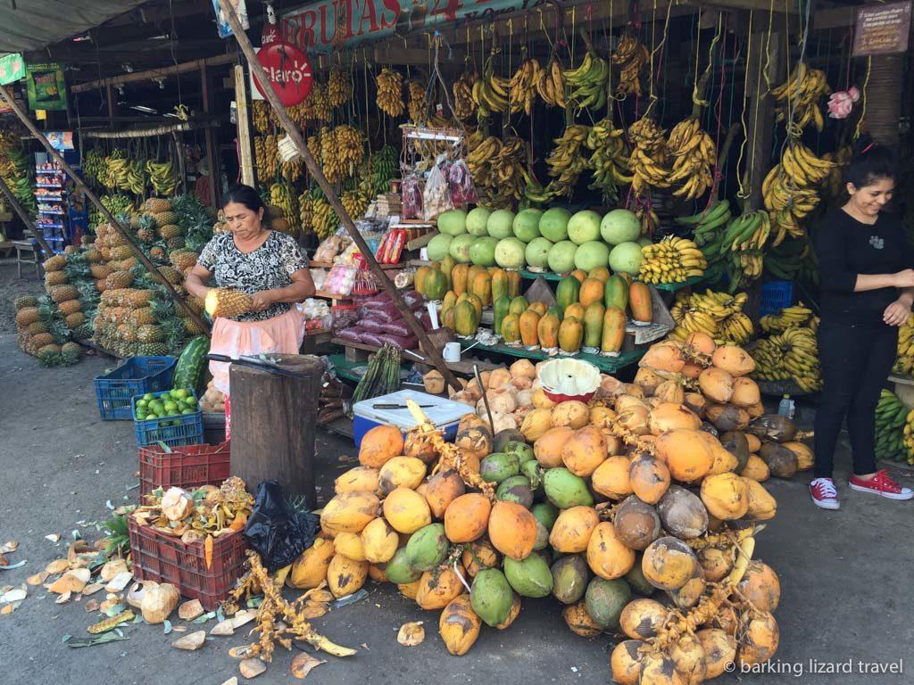 Roadside fruit seller in honduras