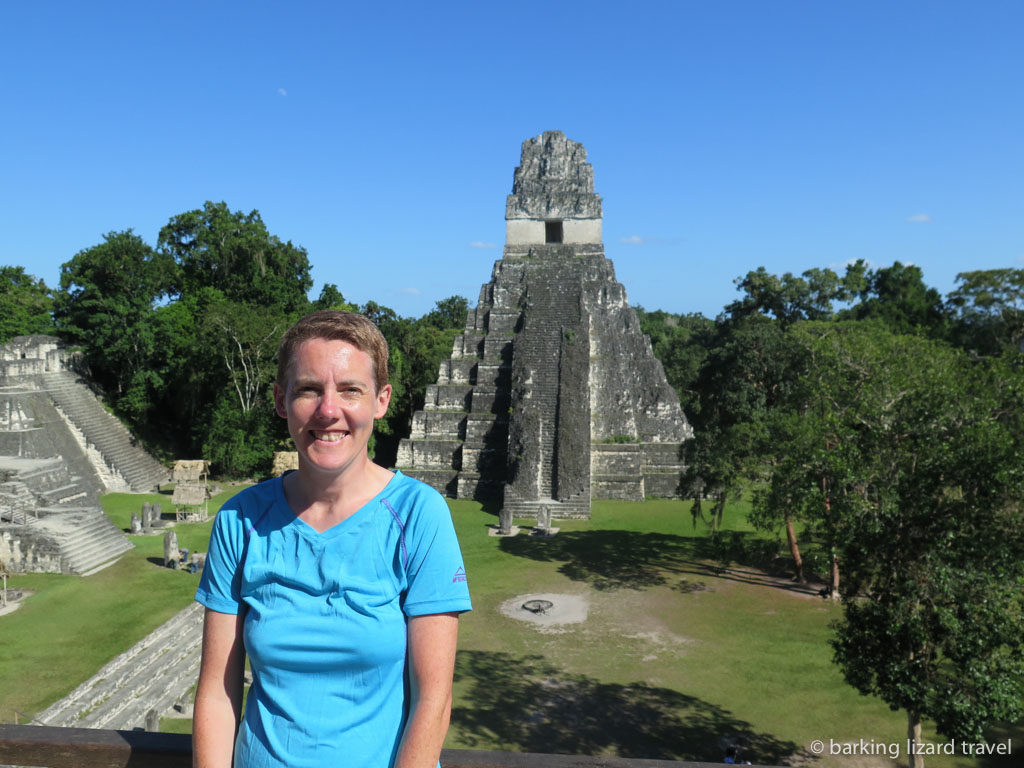 lydia in front of Templo IV in tikal guatemala