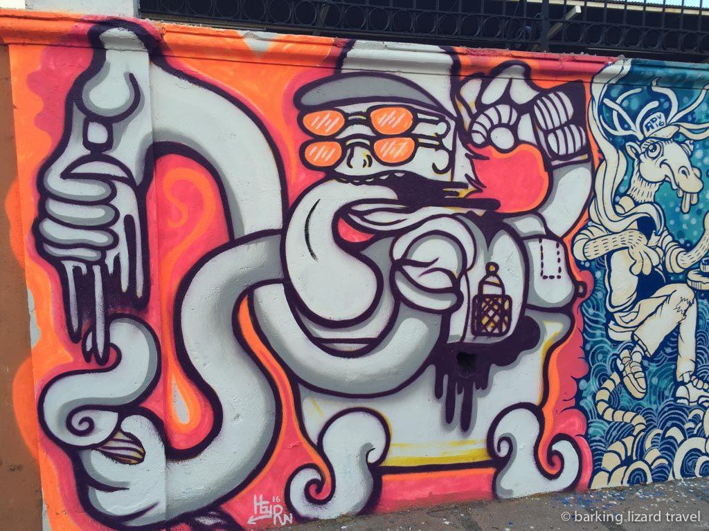 Street art on a wall in San Jose