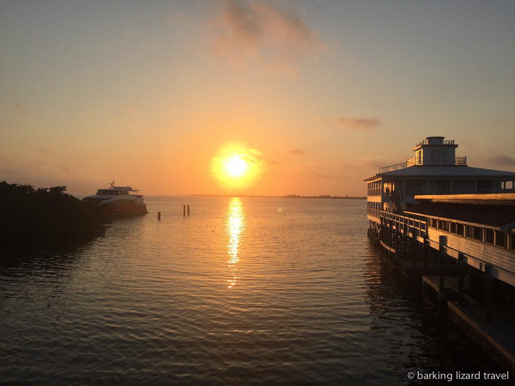 Sunset over Utila in the Bay Islands Honduras