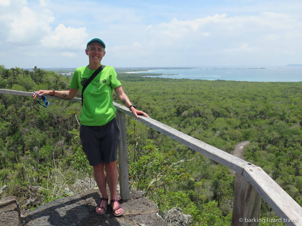 photo of lydia at the one of the Muro de las Lagrimas trails mirador puerto villlamil