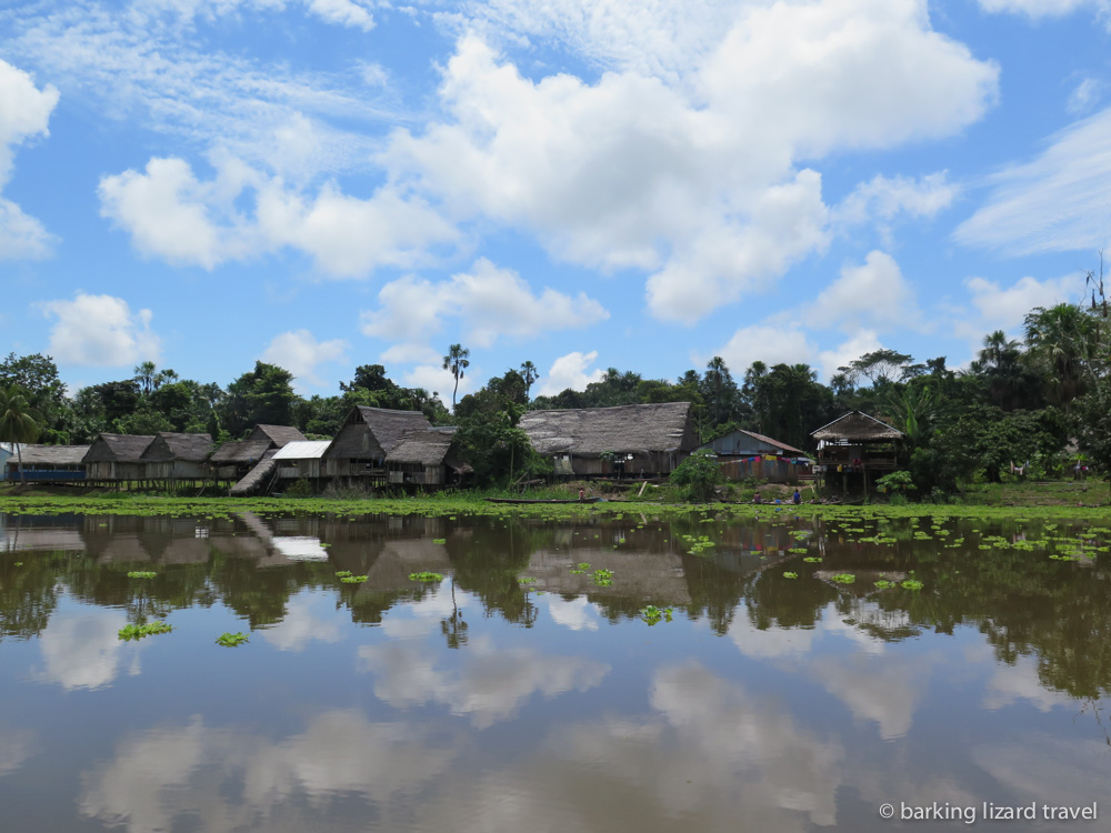 Photo of an amazon village in northern peru