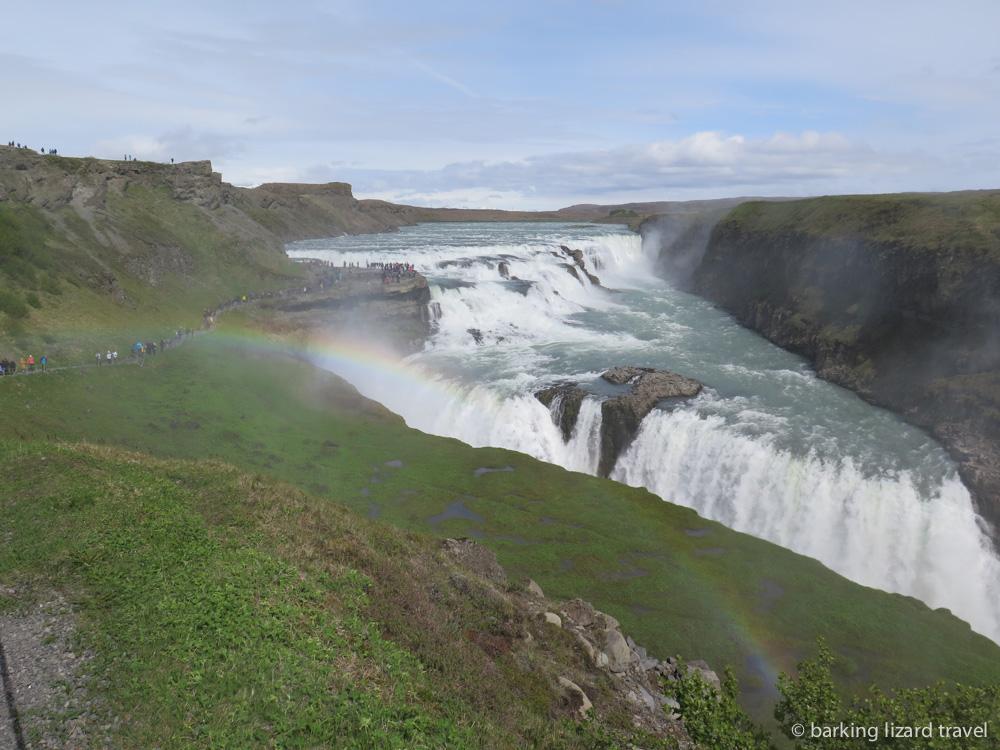 photo of the gullfoss waterfall golden circle iceland